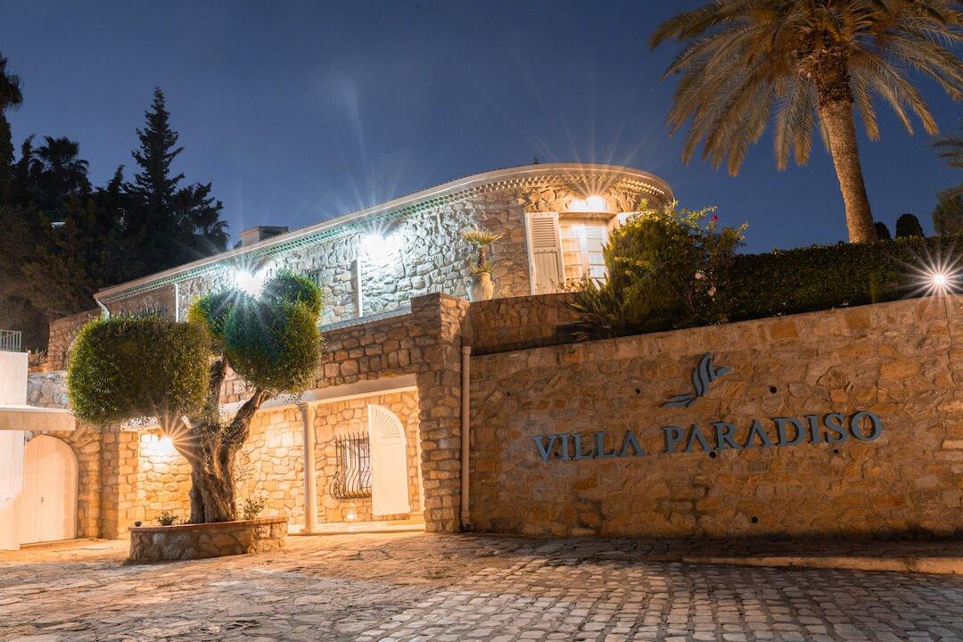 villa paradiso entrance luxury rehab tunisia